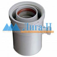 Ниппель для отвода конденсата d 80/125 мм, вертикальный, арт. 26010
